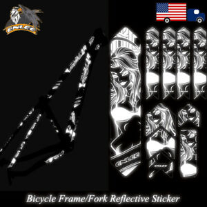 ENLEE Bicycle Frame Protective Film Decal Reflective Sticker For Mountain Bike