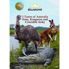 Exotic Jerky Try Pack - Three Meats of Australia - Emu Kangaroo Crocodile