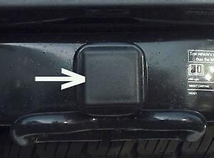"Car Wash Proof Guaranteed 2 Inch Black Trailer Hitch Receiver Cover Cap Plug  2"""