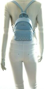 Michael Kors Erin Studded Small MINI Convertible Pebbled Leather Backpack Sky