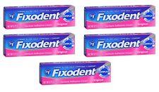 5 Pack - Fixodent Denture Adhesive Cream Original 0.75 oz Each