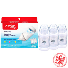 Playtex Baby Ventaire Anti Colic Baby Bottle, BPA Free, 6 Ounce - 3 Pack NEW