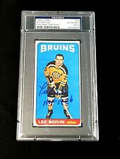 LEO BOIVIN SIGNED TOPPS 1964 TALL BOYS BOSTON BRUINS CARD #50 PSA/DNA AUTO