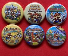 PAPER MARIO Collector's Set, Pins Buttons, Origami King Thousand Year Door Super