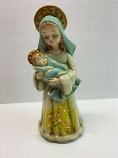 *Rare* Vintage Josef Originals Madonna and Child chalkware statue nice condition
