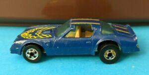Vintage Hot Wheels Hot Bird blue Hong Kong 1977 loose Pontiac Firebird Trans Am