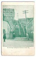 100 Steps leading from Hoboken to Jersey City, NJ Postcard *5Q6