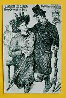Patriotik AK Hain Granat u Frau 1916 Humor i Felde Kunst Eckstein 1.WK WWI (A