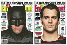 2016 Entertainment Weekly Batman v Superman 2 Cover Set Ben Affleck Henry Cavill