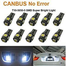 20 X CANBUS ERROR FREE White T10 5SMD 5050 LED Interior Light Bulbs 194 168 12V