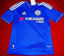 """CHELSEA FUTBOL CLUB EMBROIDERED """"ADIDAS CLIMACOOL"""" SOCCER JERSEY YOUTH LARGE $70"""