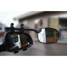 Rock Steady Car Towing Mirrors Pair 1 Flat & 1 Convex With Bag Caravan Trailer