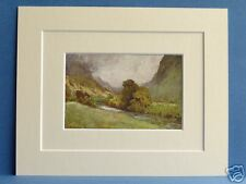 VALE OF ST. JOHN KESWICK CUMBRIA VINTAGE DOUBLE MOUNTED PRINT 1908 HEATON COOPER