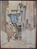 huile sur carton signé Rontet orientaliste peinture tableau