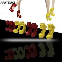 """5pairs/lot High-heel Shoes for 11.5"""" doll Kids Toys Fashion Princess Shoes 1/6"""
