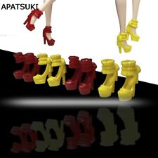 5pairs/lot High-heel Shoes for barbie doll Kids Toys Fashion Princess Shoes 1/6