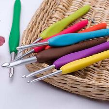 9 Pcs Multicolor Handle Ergonomic Grip Aluminum Hooks Knitting Needles Loom Tool