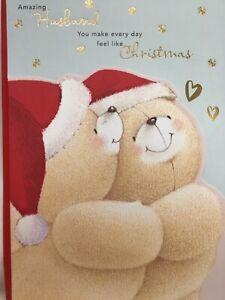 Beautiful Large Forever Friends  Amazing Husband Christmas Card