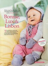 ~ Baby Knitting Pattern For Bonnet, Mittens & Bootees ~