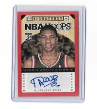 2013/14 NBA Hoops Giannis Antetokounmpo Rookie Autograph Red 88/99