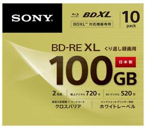 SONY Blu-ray Disc 100 GB 10packs BD-RE XL BDXL 3D 10BNE3VCPS2 Japan NEW