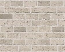 Grey Brick Wallpaper Looks Almost Real Embossed Textured Finish