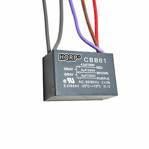 HQRP Capacitor for Hampton Bay Ceiling Fan 4.5uf+5uf+6uf 5-Wire CBB61