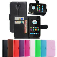New Wallet Leather Case Cover For Telstra 4GX Smart + Screen Protector