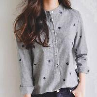 Fashion Women's Long Sleeve Loose Blouse Casual Shirt Summer Tops T-Shirt New