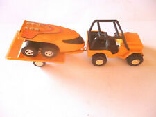 Vintage Rare Tonka Orange Jeep And Trailer With WTO 760 Moon Buggy Japan 1970's