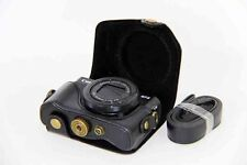 G7XII Camera Bag Retro Leather Case Pouch for Canon Powershot G7 X Mark II Black