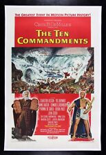 THE TEN 10 COMMANDMENTS ✯ CineMasterpieces 1956 MOVIE POSTER GOD BIBLE MOSES