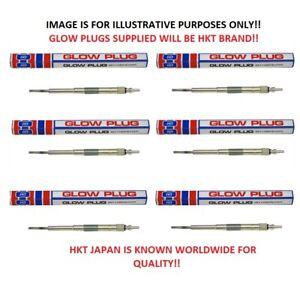 x6 Glow Plugs (HKT JAPAN) For Nissan Patrol Y61 2.8TD (RD28) 10/1997-2/2000