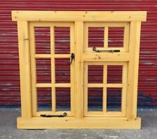 Wooden Timber Chunky Frame Georgian style double Casement Window Made to measure