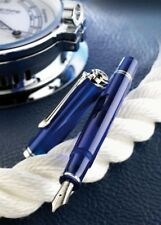 New Pelikan SOUVERAN M605 Marine Blue Special Limited Edition Chrome EF F M B