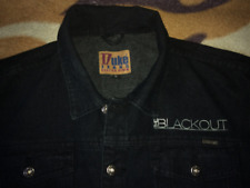 The Blackout Vintage Black Denim Jacket Post Hardcore We Are The Dynamite Wales