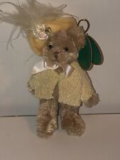 Bearington Bears Hattie 350017 w/tags Rare! 4.5� Feathered Hat Teaberry