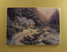 Thomas Kinkade Welcomes You Home WINTER'S EVENING GLOW Plate #4 Forest Cottage