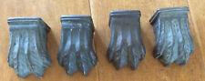 Vintage Table Leg Claw Foot Caps - Set of 4 METAL