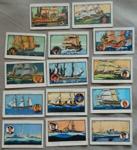 14 FAMOUS BRITISH BOATS  VINTAGE CARDS SAVOY PRODUCTS 1928