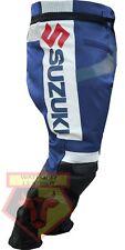 SUZUKI GSX BLUE MOTORBIKE MOTORCYCLE BIKER COWHIDE LEATHER ARMOURED PANT/TROUSER