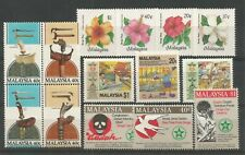 MALAYSIA 1984 Weapons Block, Hibiscus, & 1986 Drugs, Productivity. UM. WHITE GUM