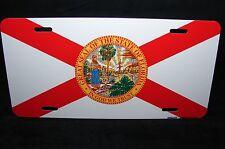 FLORIDA STATE FLAG METAL ALUMINUM CAR LICENSE PLATE TAG