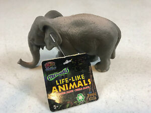 """Imperial Life Like Animals Strechable Bead Filled Elephant 5"""" Long"""