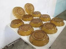 "Lot Of (11) ""Cambro"" Heavy Duty Commercial Stackable 10"" Plate Dome Cover/Lids"
