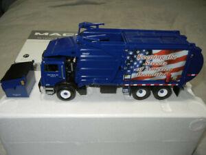 19-0037 First Gear Front Load Refuse / Garbage Truck with Trash Bin NIB 1:34
