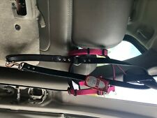 Kong comfort harness M fuchsia comes with really nice large black leather leash
