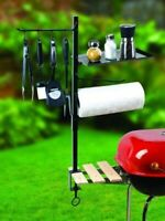 Outdoor BBQ Grill Tool Organizer Holder Patio Barbecue Cooking Accessory Set New