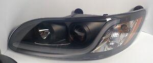(LH) Blackout Headlight W/ Dual Function LED Running Light for Peterbilt