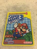 Mint Brand New Sealed Super Mario Bros. 3 Super Mario Advance 4 Level Card